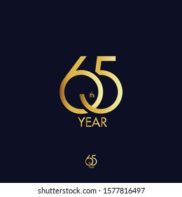 65th anniversary logo gold design. 65 Year logo