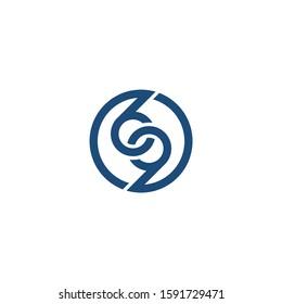 69 circle logo design concept