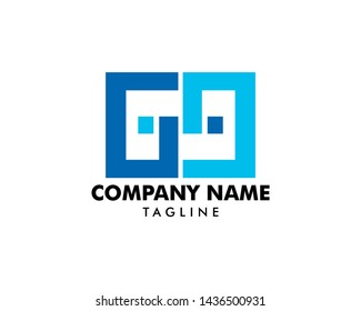 69 logo initial letter design template vector illustration