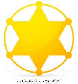 6-pointed Sheriff star, badge