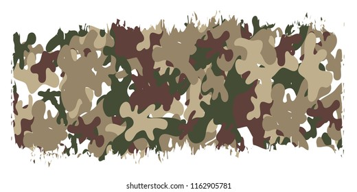 6th September. Happy Defence Day. Pakistani army hope texture pattern brushes on white background isolated editable vector design.