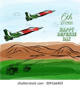 6th of September.Pakistan's Defense Day celebration vector background.
