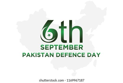 6th Septermber. Defence Day Pakistan. Vector. 5K.