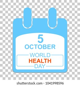 7 April International Health Day. Template Design concept Calendar style. Vector illustration