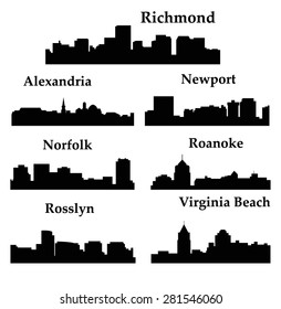 7 City in Virginia ( Richmond, Alexandria, Virginia Beach, Rosslyn, Roanoke, Norfolk, Newport News )