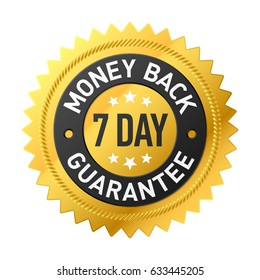 7 day money back guarantee label