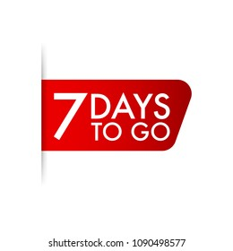 7 days to go. Vector stock illustration.