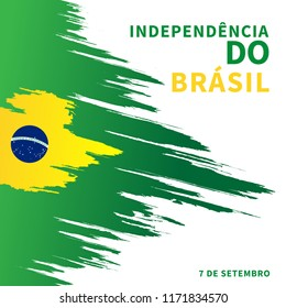 7 de setembro, brazil, flag, brazilian, independence, day, country, national, isolated, brasil, illustration, green, map, world, sign, white, 3d, banner, america, yellow, nation, brush, card, celebrat