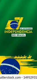 7 de setembro, independencia do brasil, (translation : 7 September, Independence Day of Brazil), Billboard, Poster, Social Media, Greeting Card template vector Illustration