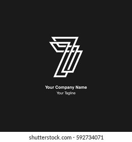 7 number monogram