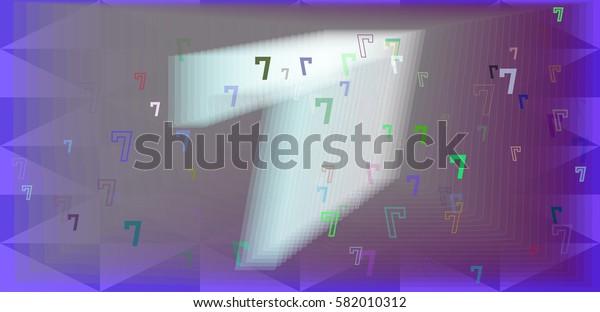 7 Number texture vector