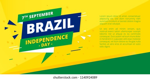 7 September - Brazil Independence Day Banner Vector Illustration
