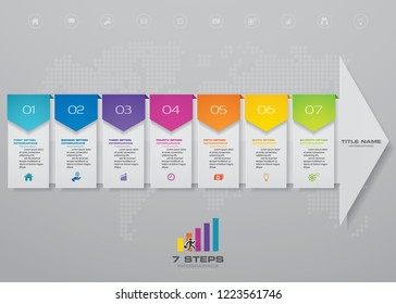 7 steps of arrow infografics template. for your presentation. EPS 10.