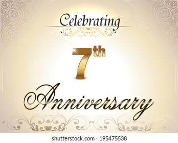 7th Wedding Anniversary.7th Anniversary Images Stock Photos Vectors Shutterstock