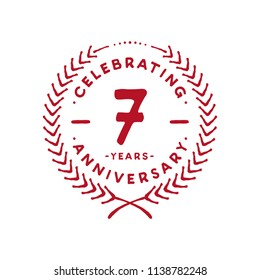 7 years design template. 7th vector and illustration.