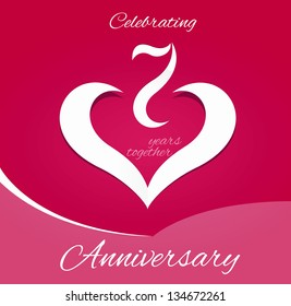 7 years together anniversary card