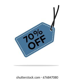 25 discount hang tag vector template stock vector royalty free