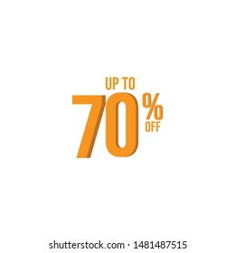 up to 70 % off Illustration Vector, design for banner, greeting card, poster or print