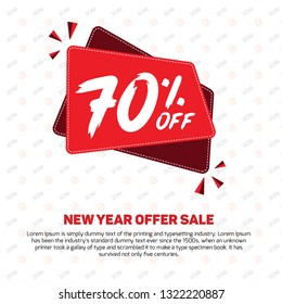 70% off 70 Percent off 70% Discount Sale Off big offer  70% Offer Sale Special Offer Tag Banner Mega Black Friday Summer Advertising Promotional Poster Design Vector Offers Mobile Fashion Electronics