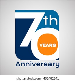 70 th years anniversary with square shape