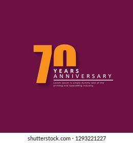 70 Year Anniversary Vector Template Design Illustration.