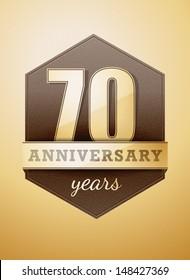 70 years anniversary birthday card