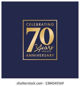 70 Years Anniversary Logo Vector Template Design Illustration
