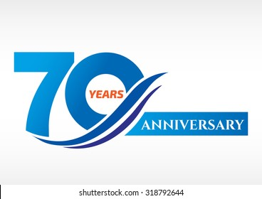 70 years anniversary Template logo