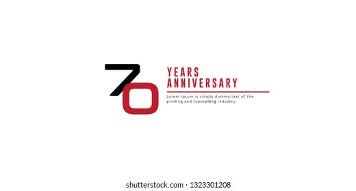 70 Years Anniversary Vector Template Design Illustration.
