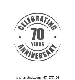 70 years celebrating anniversary logo