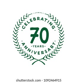70 years design template. 70th vector and illustration.