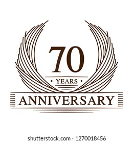 70 years design template. 70th anniversary. Vector and illustration.