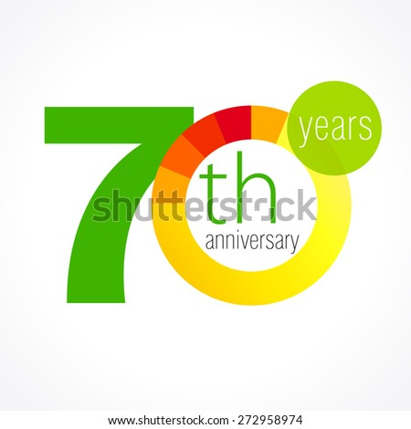 70 years old round logo anniversary stock vector royalty free 70 years old round logo anniversary year of 70 th vector chart template medal m4hsunfo