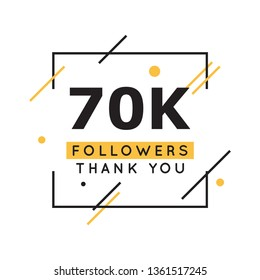 70k Followers thank you design template