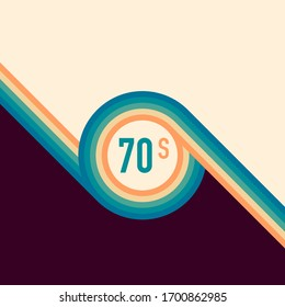 70s, 1970 abstract vector stock retro lines background. Vector illustration.