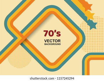70s background,Vintage retro. vector