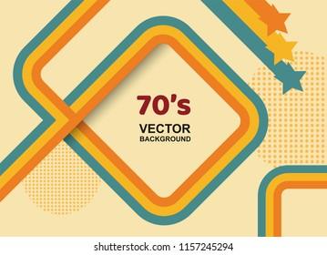 70s background,Vintage retro. vector