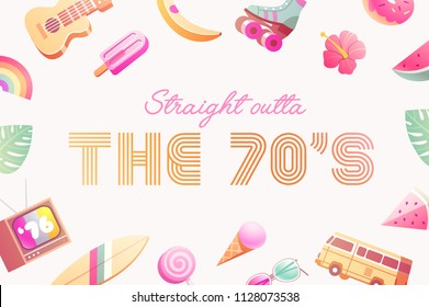 The 70's. Hot Summer flyer / poster / invitation.