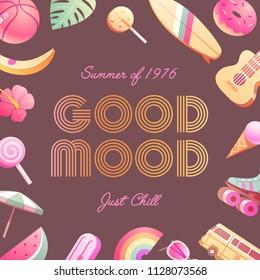 The 70's. Hot Summer flyer / poster / invitation.