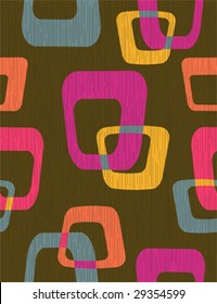 70s Old tv - abstract seamless pattern