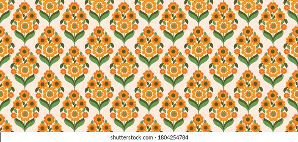 70's retro seamless pattern material vector illustration