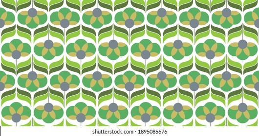 70's retro seamless wallpaper pattern material, vector illustration