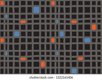70s style seamless grid pattern