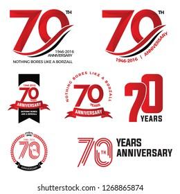 70th anniversary, 70 year, anniversary logo