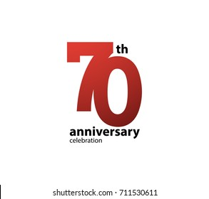 70th anniversary celebration logotype. anniversary logo simple isolated on white background, vector design for celebration, invitation card, and greeting card