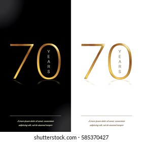 70th anniversary decorated greeting/invitation card template.