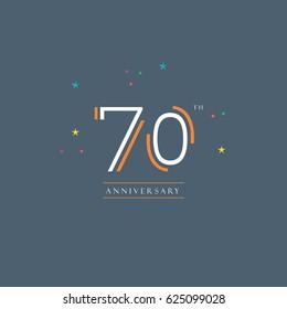 70th Anniversary logo vector template