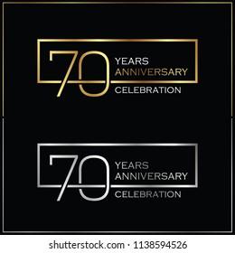 70th years anniversary celebration background