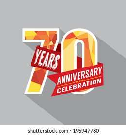 70th Years Anniversary Celebration Design