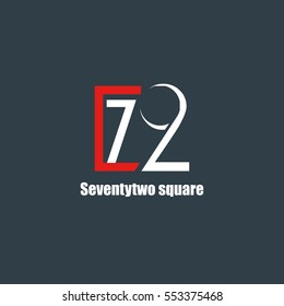 72 Number logo design vector element